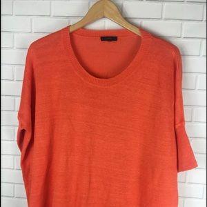 📦Jcrew sweater Dolman Sleeve short Medium Orange